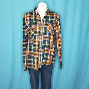3/$25 Arizona Jeans Flannel Shirt size medium